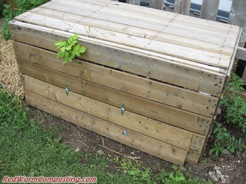 vermicompost bin diy wood