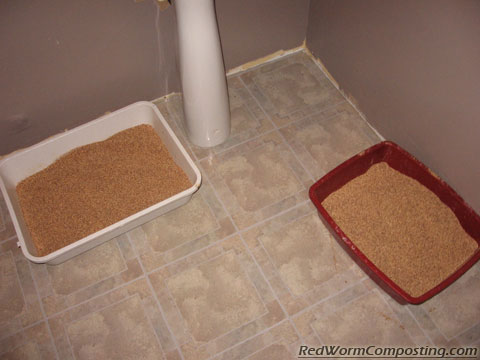 Both Litter Boxes Filled With Eco-friendly Cat Litter