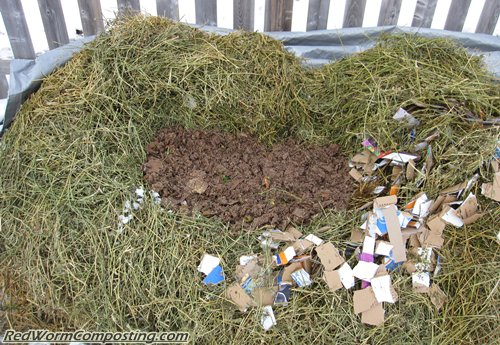 Homemade Manure Gets Added to Winter Worm Bed