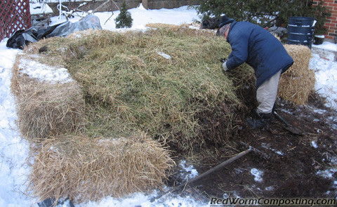 Alfalfa Hay Gets Added to the Winter Worm Bed
